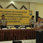 Penandatanganan Fakta Integritas dan Pengambilan Sumpah Panitia Peserta Seleksi Pendidikan Ahli Golongan (PAG) Polda Kepri