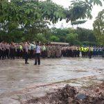 Apel Gabungan Pergeseran Pasukan Pengamanan Malam Pergantian Tahun Baru Kota Batam