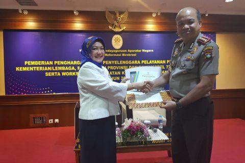Polresta Barelang Mendapakan Penghargaan Sebagai Role Model Penyelenggara Pelayanan Publik