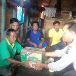 Peduli terhadap Warganya, Kapolsek Pulau laut Berikan Bantuan Sembako.