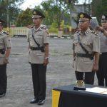 Kapolres Natuna Pimpin Pelaksanaan Sertijab Kabagren dan Kasat Binmas Polres Natuna.