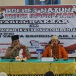 Polres Natuna Gelar Tabliq Akbar Untuk Indonesiaku Tentang Kewajiban Ta'at Kepada Pemerintah