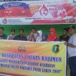 54 Pendonor Ikut Dalam Giat Bhakti Kesehatan Polres Karimun