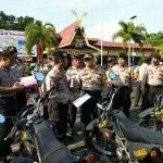 Kapolres Tanjungpinang Pimpin Apel Pengecekan Kendaraan Dinas