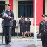 Peringati Hari Kebangkitan Nasional, Polres Lingga Laksanakan Upacara Bendera