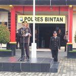 Polres Bintan Turut Serta  Memperingati Hari Lahir Pancasila 1 Juni 2018