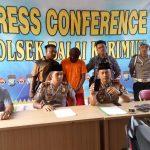 """Press Conference """"Jambret"""" Oleh Kapolres Karimun Di Polsek Balai"""
