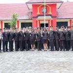 Meski Libur, Kepolisian Resor Lingga Gelar Upacara Lahirnya Pancasila