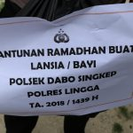Ramadhan Berbagi, Polsek Dabo Singkep Kunjungi Masyarakat Kurang Mampu
