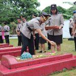 Hujan Tidak Menyurutkan Semangat Polres Lingga Dalam Memperingati HUT Bhayangkara ke -72