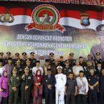 Tarian Kolosal TNI Polri & Drumband Satpam Memeriah HUT Bhayangkara Ke 72 Di Polres Karimun