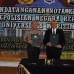 Kerjasama Polri Dan Umrah Tanjungpinang Bidang Pendidikan Ditandatangani Langsung As SDM Mabes Polri