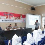 Guru dan Murid Bintan Ikuti Sosialisasi Upaya Pencegahan Paham Radikal Polres Bintan 2018