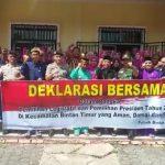 Polsek Bintan Timur Gandeng Elemen Masyarakat  Deklarasikan Pemilu Aman dan Damai
