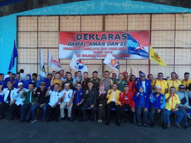Wujudkan Pemilu 2019 Yang Aman, Damai Dan Sejuk Polres Bintan Gelorakan Deklarasi  Damai
