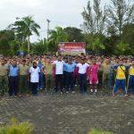 TNI Polri Solid Diujung Utara Pulau Terluar Terdepan NKRI,Polres Natuna Gelar Olahraga Bersama TNI