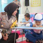 Wajah Bahagia Anak TK Saat Mengikuti Lomba Mewarnai Hari Lalu Lintas Bhayangkara 2018