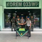 Jalin Silaturahmi Dan Sinergitas, Polres Bintan Berikan Kejutan Di hari Ulang Tahun TNI Ke 73