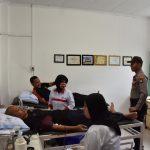 Sat Binmas Polres Tanjungpinang Selenggarakan Donor Darah Dalam Rangka HUT Satpam ke 38