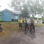 Kapolsek Teluk Bintan Turun Langsung Lakukan Patroli Sepeda