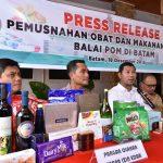 Cegah Kerugian Negara, BPOM Batam dan Stakeholder Musnahkan Obat dan Makanan Ilegal