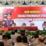 Kapolda Kepri Pimpin Langsung Rakor Evaluasi Kamtibmas Jelang Akhir Tahun 2018