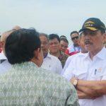 Kapolres Bintan Sambut Kunjungan Kerja Menko Kemaritiman di Pulau Bintan