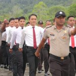 Tingkatkan Kemampuan Baris Berbaris, Polres Lingga Gelar Latihan PBB