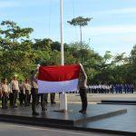 KAPOLRESTA BARELANG SEBAGAI INSPEKTUR UPACARA PADA UPACARA BULANAN TANGGAL 17 JANUARI 2019