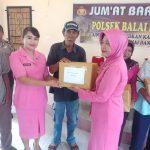 Jumat Barokah Polsek Balai Karimun Bersama Bhayangkari Beri Bantuan Sembako