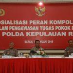 Sosialisasi Peran Kompolnas Dalam Pengawasan Tugas Pokok Polri di Polda Kepri