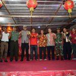 Kapolres Natuna bersama TNI Cek Langsung Pengamanan Perayaan Imlek Di Sedanau
