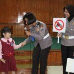 Polisi Sahabat Anak, Sat Lantas Polres Tanjungpinang Beri Pemahaman Rambu Lalu Lintas