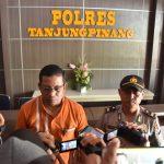 Sat Reskrim Polres Tanjungpinang Ungkap Kasus Tindak Pidana Persetubuhan Anak Dibawah Umur