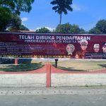 Polsek Belakang Padang sosialisasi dan membagikan brosur penerimaan polri 2019
