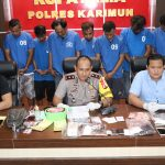 19 Tersangka Sabu & 502 Butir Pil Ekstasi Berhasil Diamankan Polres Karimun