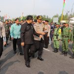 1.874 Orang Turut Ikut Melaksanakan Apel Gelar Pasukan Menghadapi Pemilu 2019 Di Wilayah Hukum Polres Karimun