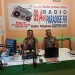 Polres Lingga Sosialisasikan Penerimaan Polri Lewat Radio