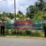 Intensifkan Pencegahan Karhutla, Sat Binmas Polres Lingga Pasang Spanduk