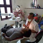 Tim Dokkes Polda Kepri Melaksanakan Pemeriksaan Kesehatan Berkala Anggota Polres Natuna.