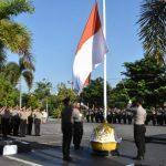 Upacara Bendera Rutin Bulanan Tanamkan Semangat Cinta Tanah Air Bagi Personil Polres Tanjungpinang