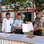 Penadatanganan MOU Kepala Lapas Kota Batam dengan Kepala BNN Kota Batam dan Kapolsek Sagulung
