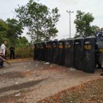Kesiapan Menghadapi Pemilu Serentak 2019, Polres Bintan Laksanakan Simulasi Sistem Pengamanan Kota