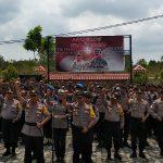 Apel Pergeseran Pasukan Pengamanan TPS, Kapolres Bintan : Kenali Setiap Potensi Gangguan Kamtibmas di TPS Masing-Masing