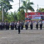 Siap Amankan TPS, Polres Natuna Gelar Apel Pergeseran Pasukan Guna Cek Kesiapan Personil