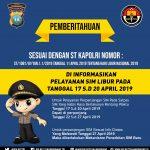 Pelayanan Pengurusan SIM di Polres Tanjungpinang Tutup 4 Hari Saat Hari Pungut Suara Pemilu 2019