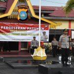 Polres Tanjungpinang Gelar Apel Pengecekan dan Pergeseran Pasukan Pengamanan TPS