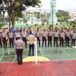Pastikan Keamanan di Wilayah Kabupaten Lingga, Polres Lingga Gelar Apel Siaga