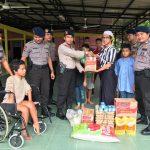 Satbrimob Polda Kepri Peduli Beri Bantuan Sosial untuk Panti Asuhan di Sei Lekop