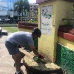 Kapolres Tanjungpinang Bersihkan Tugu Proklamasi